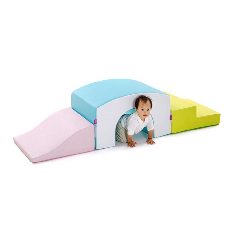 소프트체육매트 플리카 베이비블록세트4-파스텔(방염&항균)