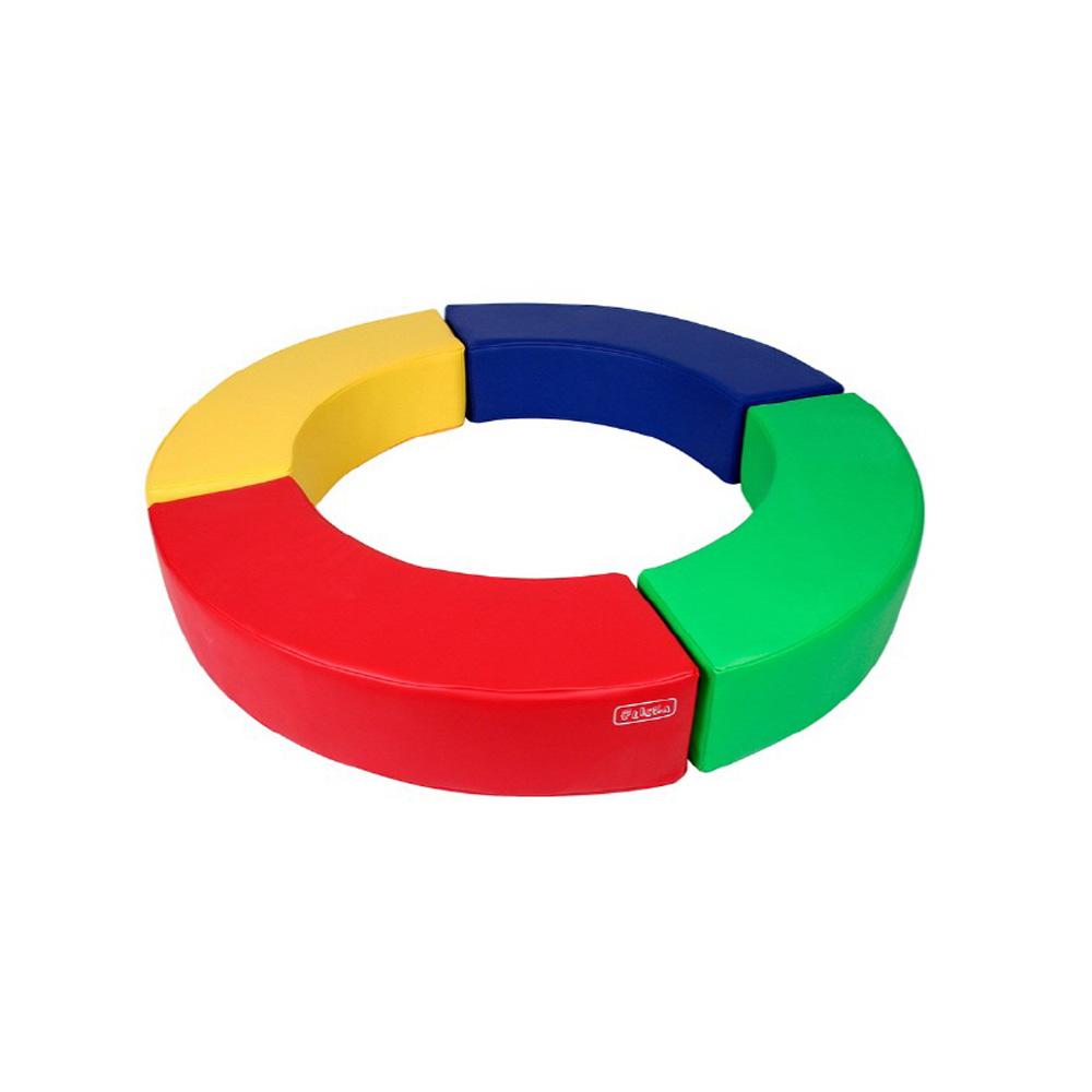 소프트체육매트 플리카 라운드의자(방염&항균)