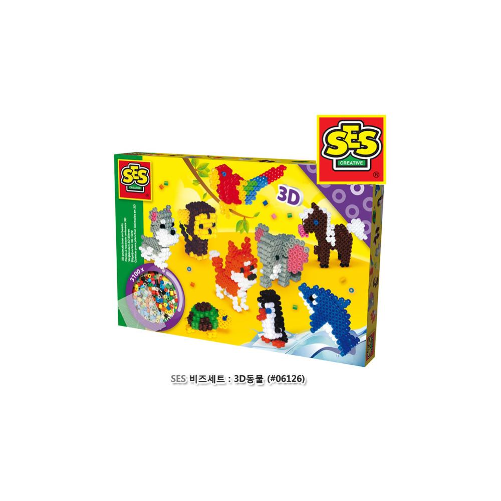 SES 비즈세트 3D동물(06126)