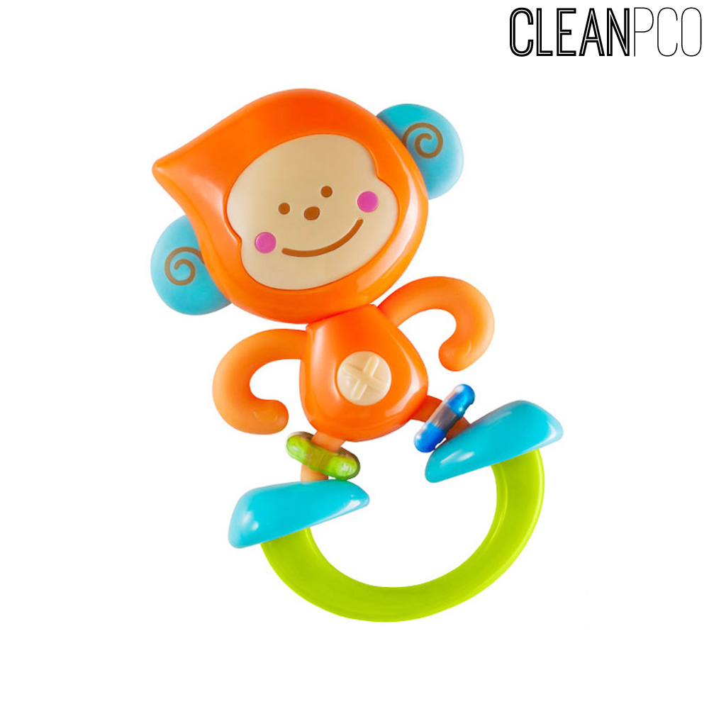 비키즈 딸랑이앤치발기 아기원숭이(4887)