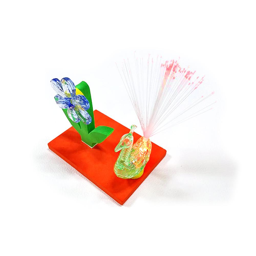 (HM)공작새 정원 광섬유 조명