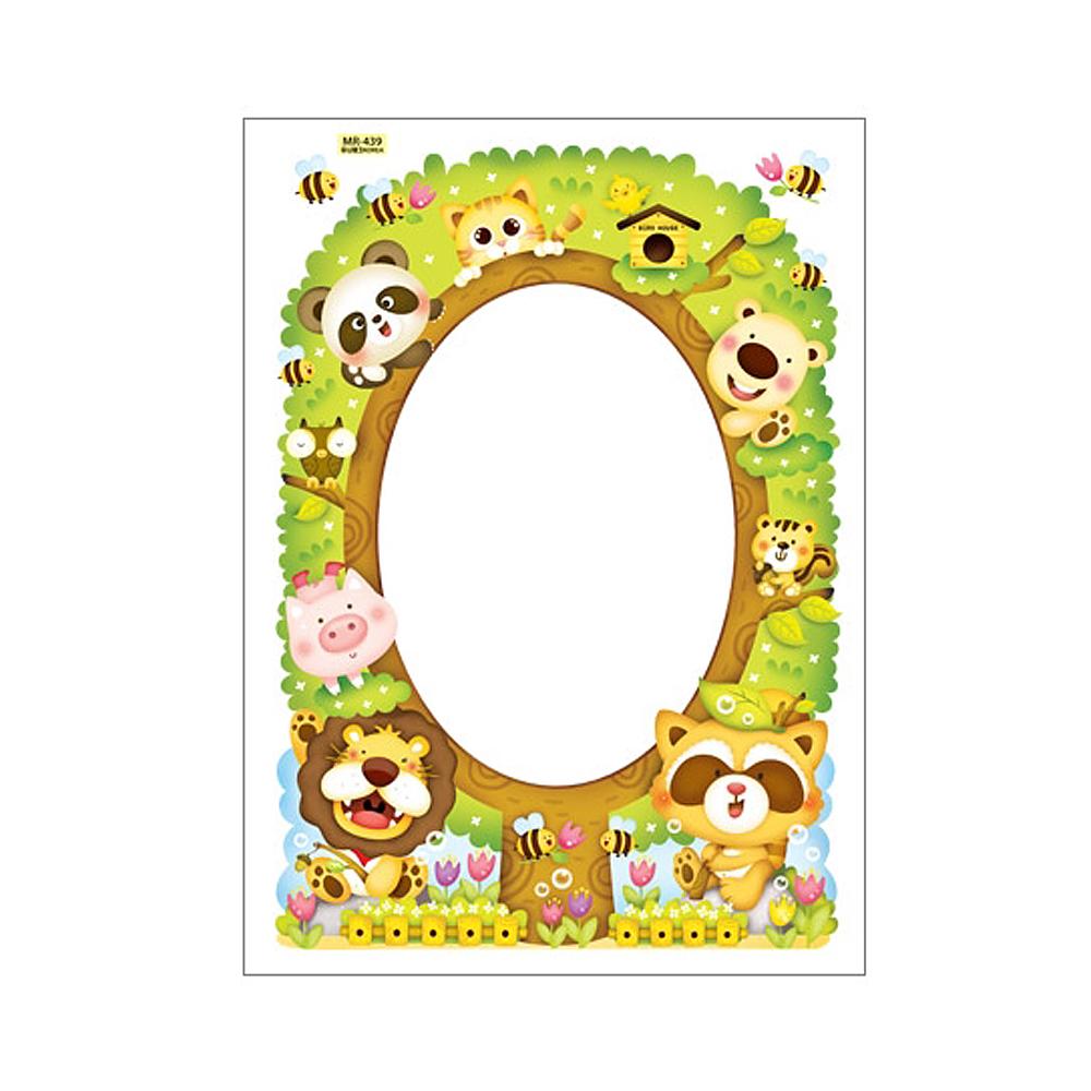 붙이는거울 동물나무 MR-439