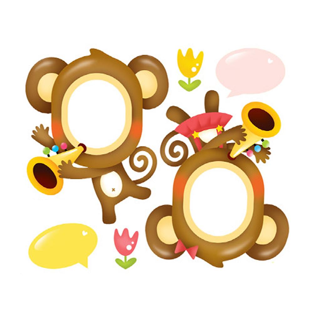 사진이름표 원숭이음악대 N-719 pco24011