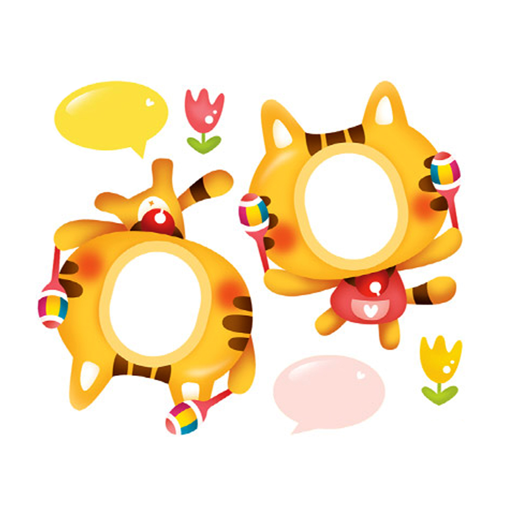 사진이름표 고양이음악대 N-720 pco24012