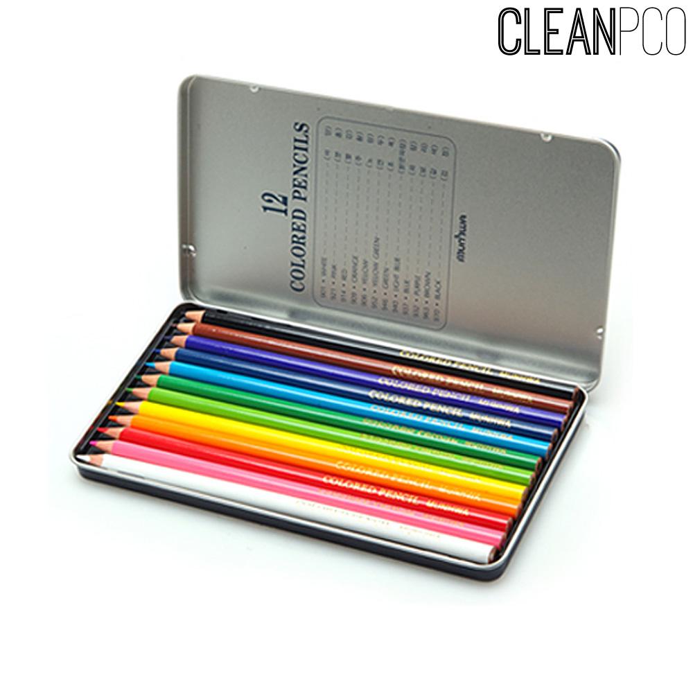 f09 문화 12색 색연필(틴케이스)