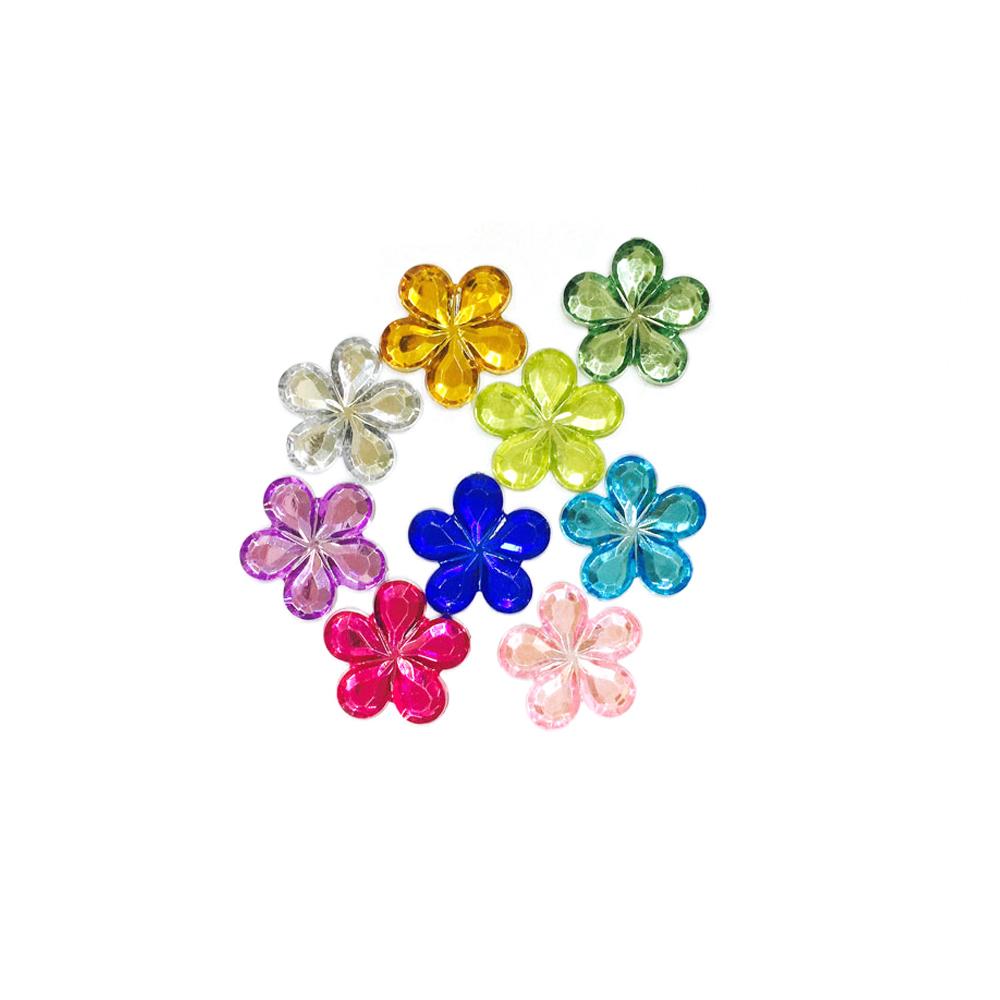만들기재료 스팡클 큐빅비즈다섯잎(꽃)