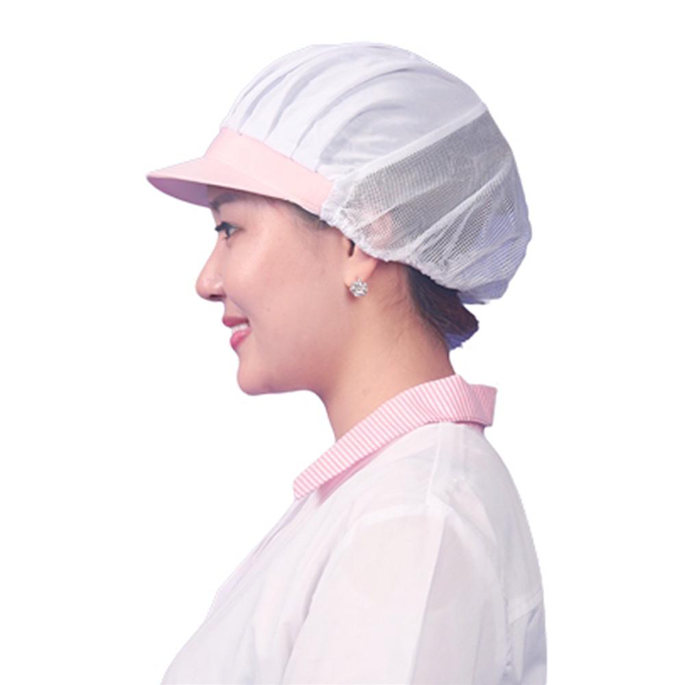 CA02 핑크 반망사 위생모자
