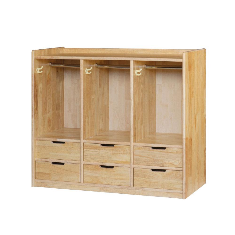 에코라인 고무나무 서랍옷장 6인 DCR06