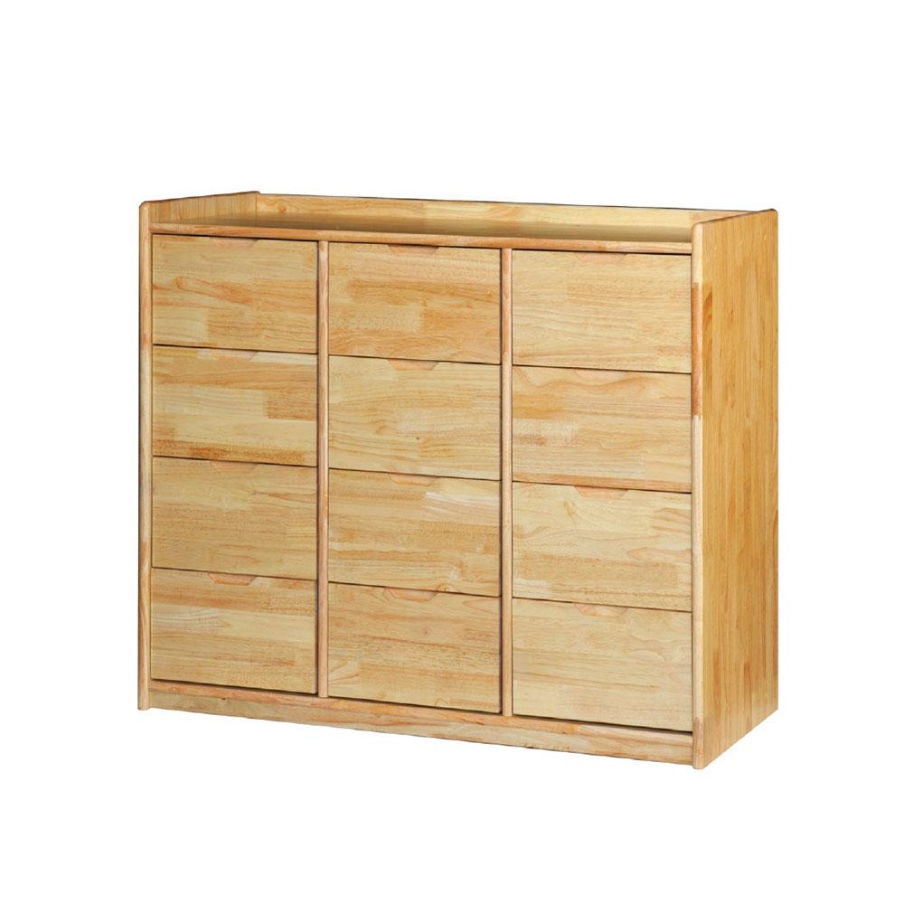 에코라인 고무나무 서랍장 12인 DR12