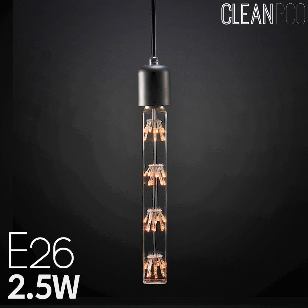 넥스트아이 LED 사각 에디슨램프 눈꽃큐브 C40 2.5W