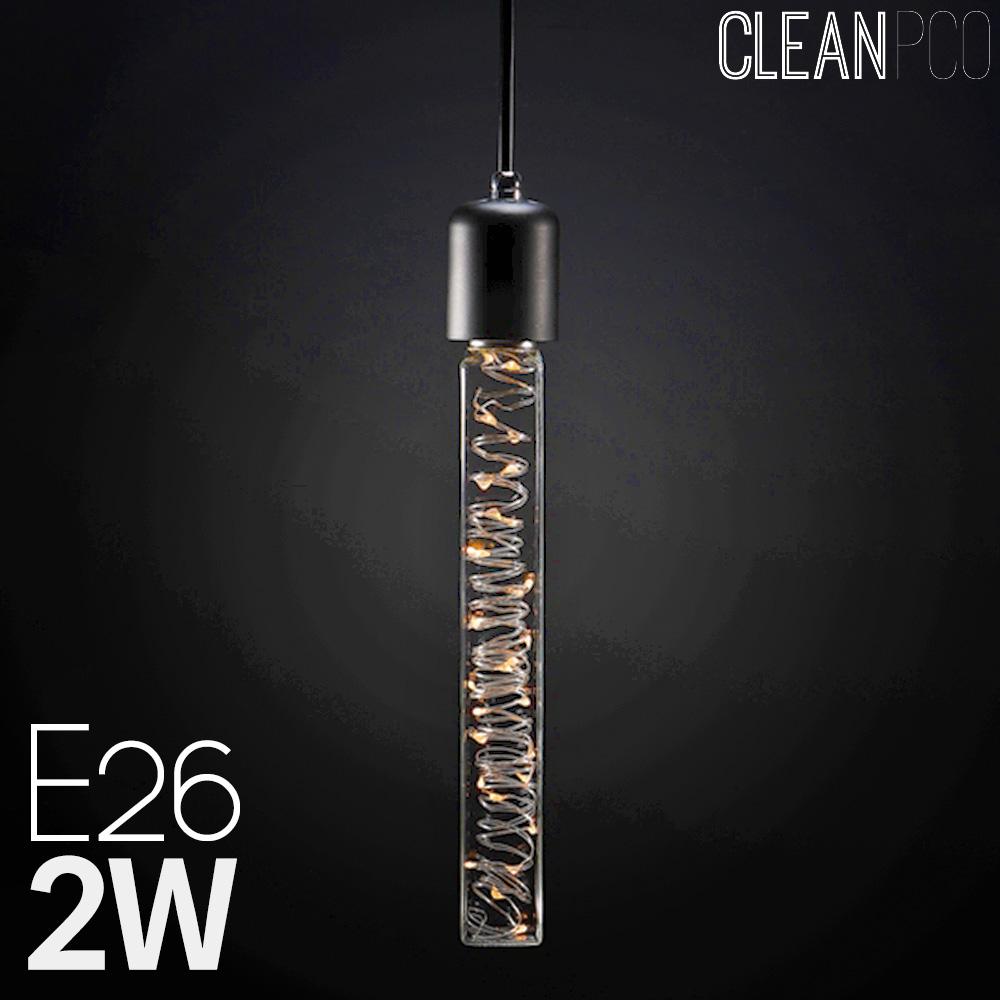 넥스트아이 LED 사각 에디슨램프 은하수큐브 C40 2W
