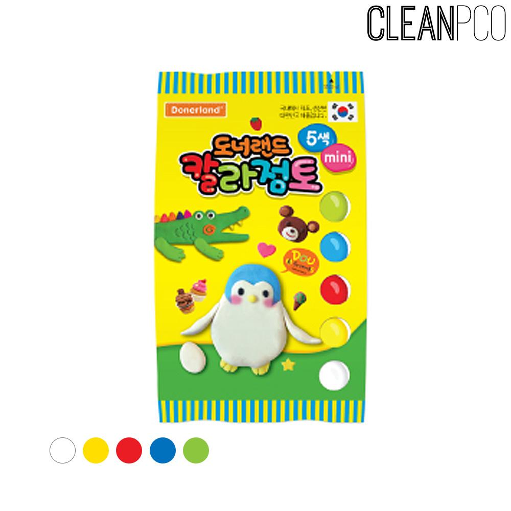 도너랜드 칼라점토 25g 5색(비닐팩)
