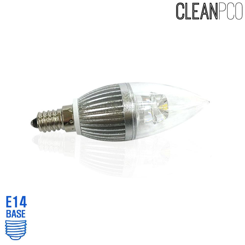 아텍스 LED 투명 촛대구램프 4W 주광색 E14