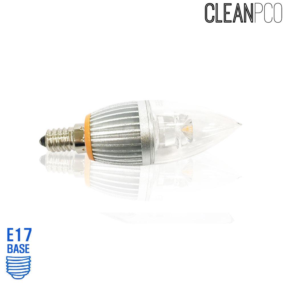 아텍스 LED 투명 촛대구램프 4W 전구색 E17