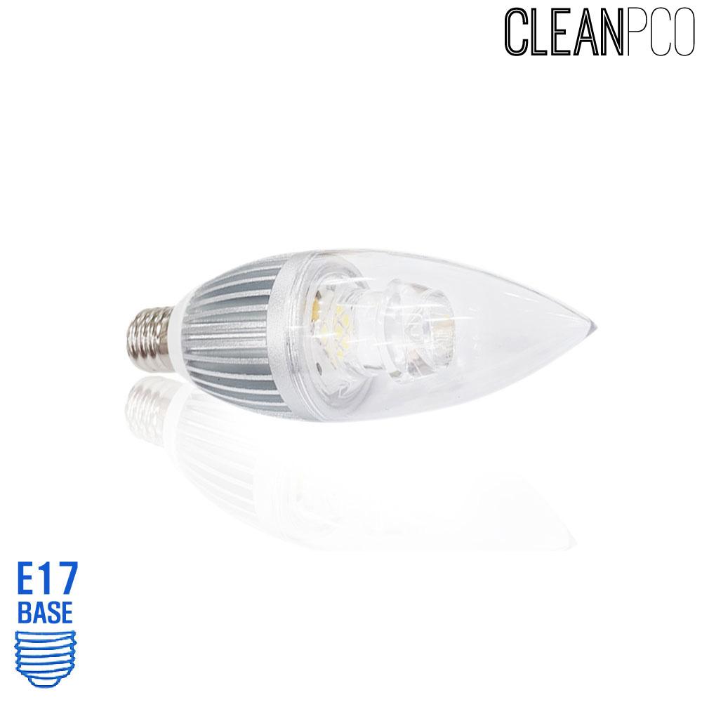 아텍스 LED 투명 촛대구램프 4W 주광색 E17