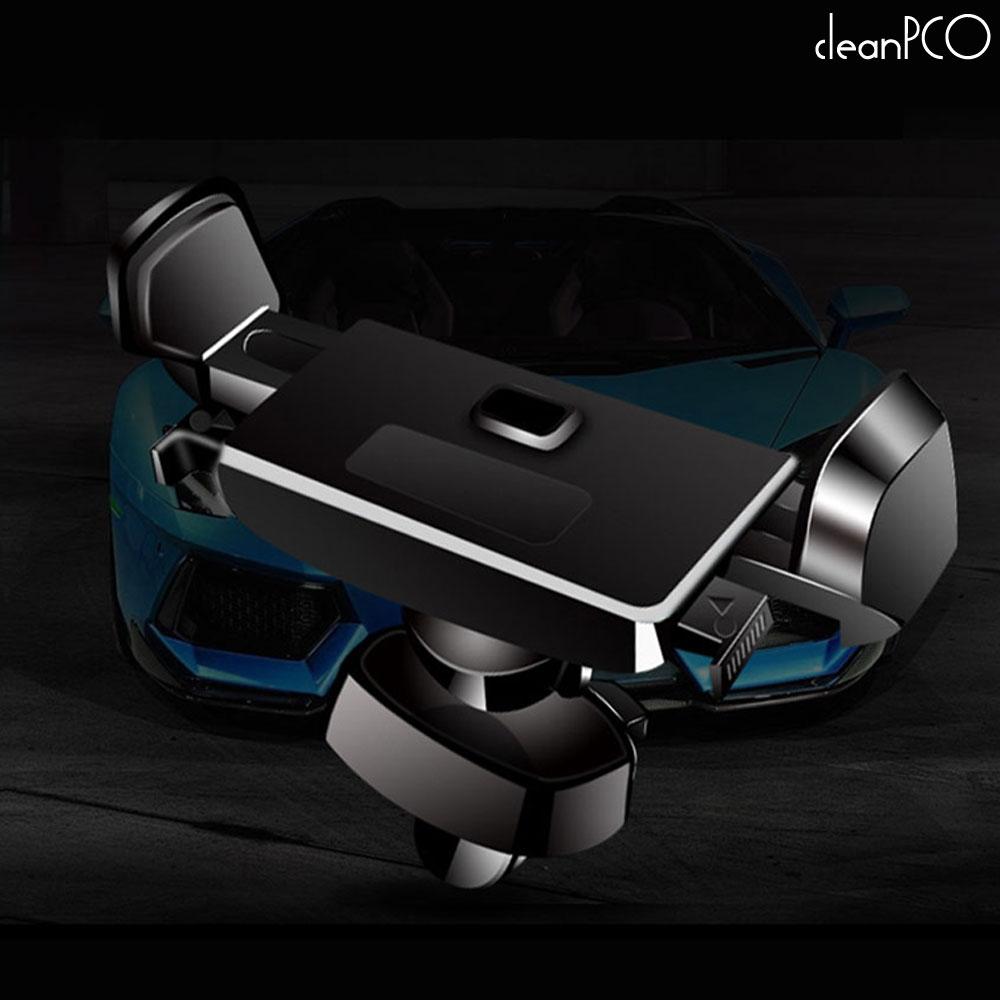 b08 (리빙)360도회전 원터치 차량용 핸드폰거치대