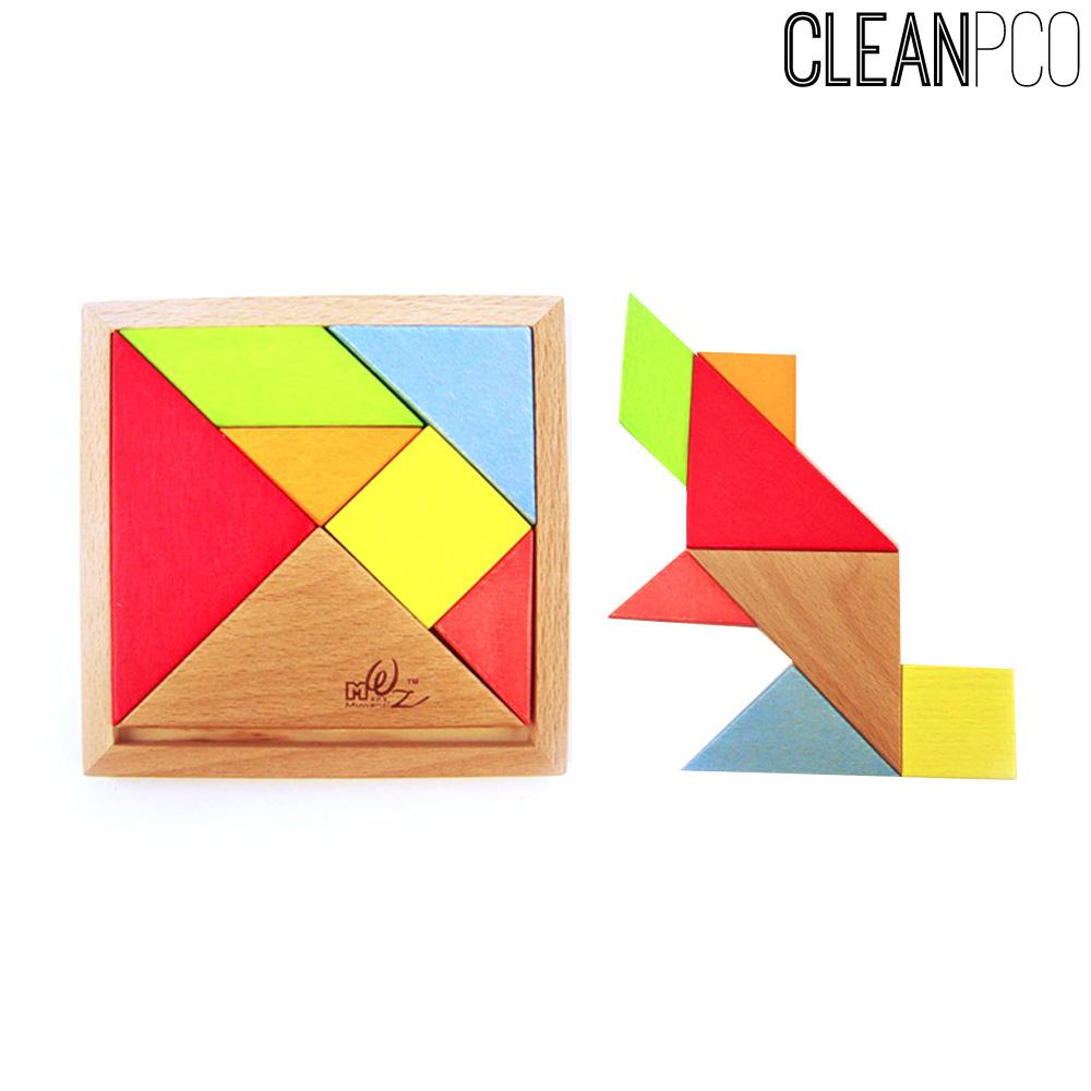 해피타운 나무도형조립퍼즐 칠교놀이