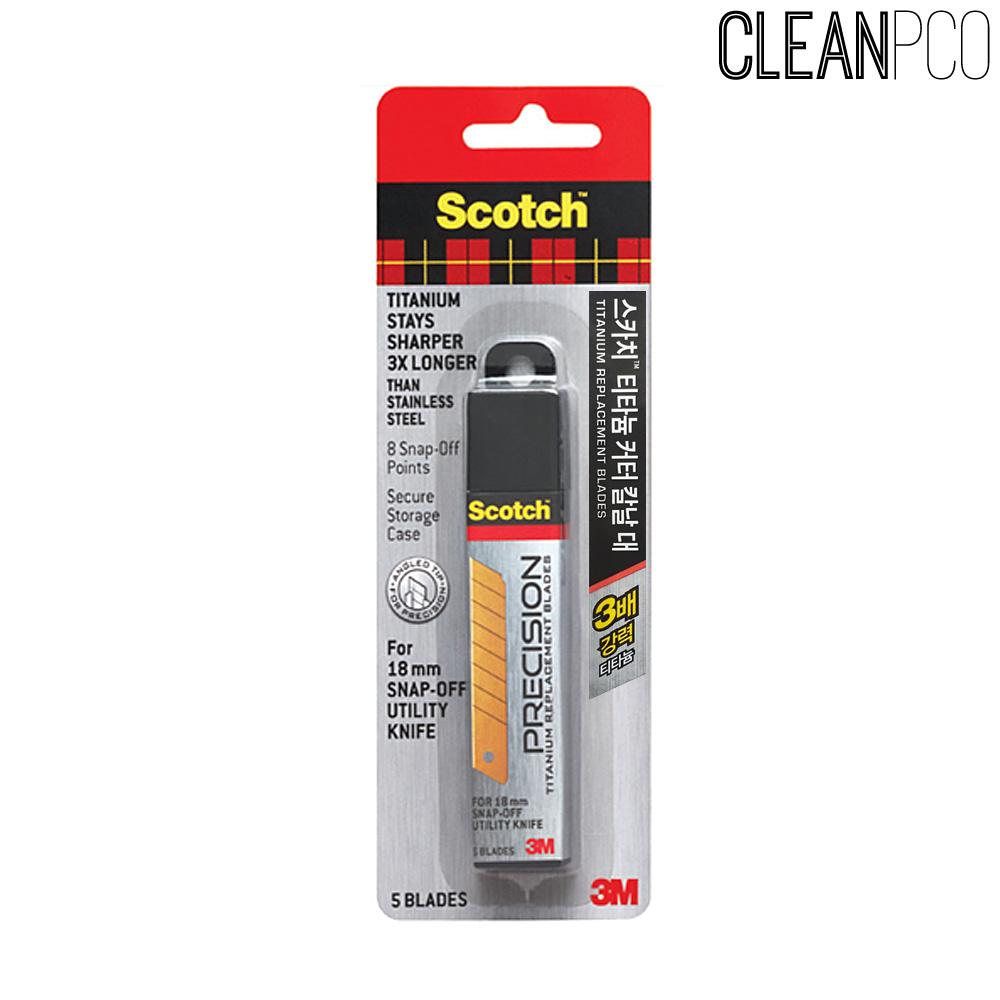 스카치 티타늄 커터칼날5개입 리필(대) 18mm