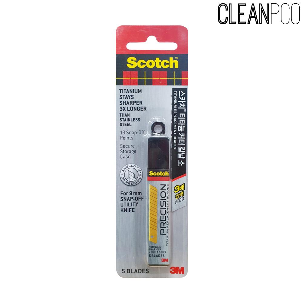 스카치 티타늄 커터칼날5개입 리필(소) 9mm