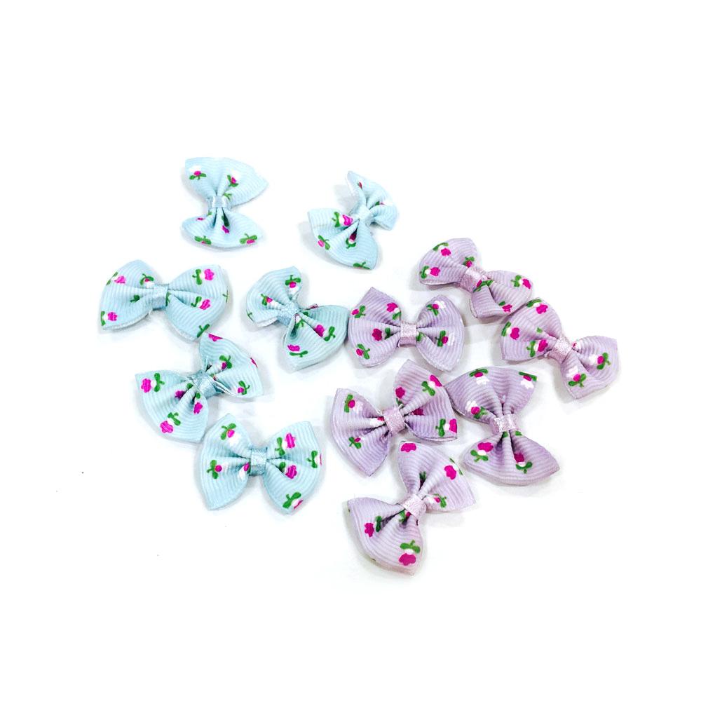 만들기재료 꽃무늬 장식리본 6매입