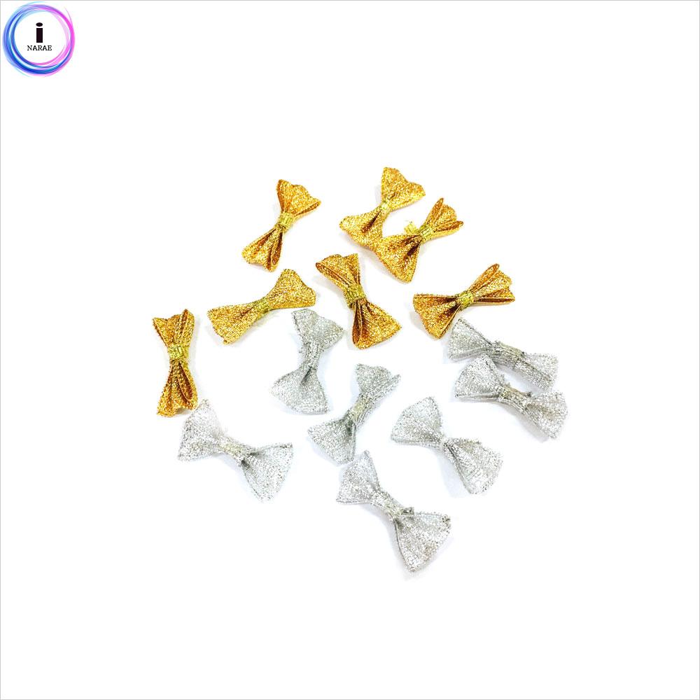 만들기재료 금은색 장식리본 8매입