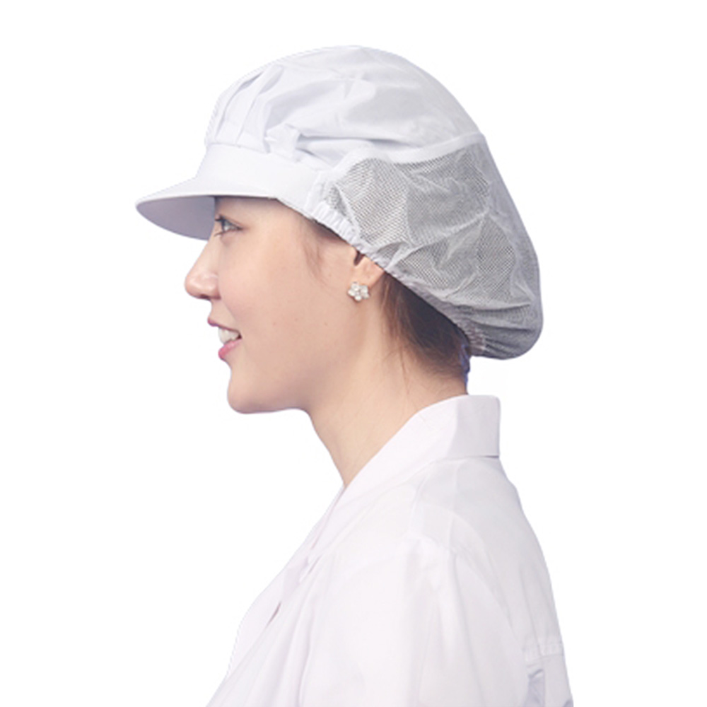 CA02 흰색 반망사 위생모자